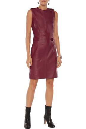IRIS AND INK Jerry leather mini dress