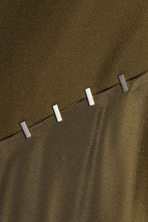 3.1 PHILLIP LIM Embellished paneled silk-satin and wool-blend dress