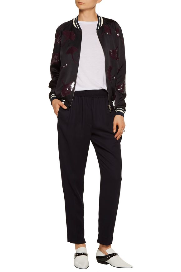 Sequin-embellished washed-crepe bomber jacket | 3.1 PHILLIP LIM | Sale up  to 70% off | THE OUTNET