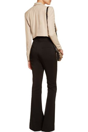 ALICE + OLIVIA Harvey stretch-knit paneled suede jacket