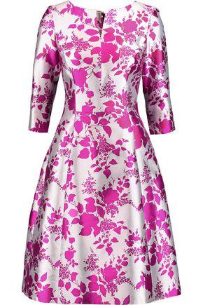 OSCAR DE LA RENTA Printed silk-twill dress