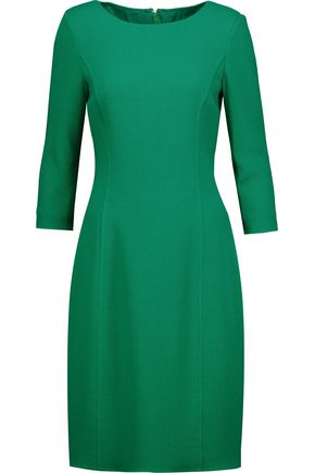 OSCAR DE LA RENTA Textured wool-blend dress
