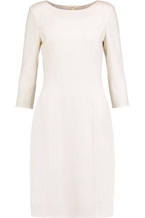 OSCAR DE LA RENTA Textured wool-blend dress