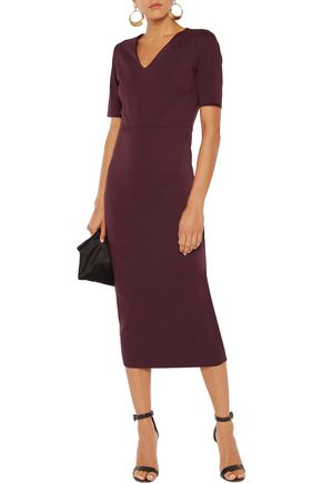 IRIS AND INK Ivanna ponte midi dress