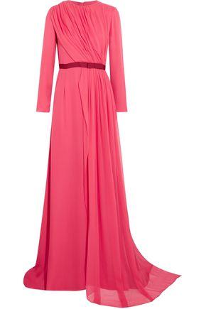 OSCAR DE LA RENTA Silk-chiffon gown