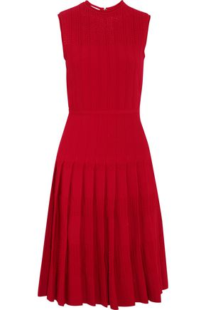 OSCAR DE LA RENTA Pointelle-knit dress