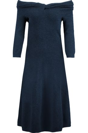 OSCAR DE LA RENTA Off-the-shoulder stretch-knit dress