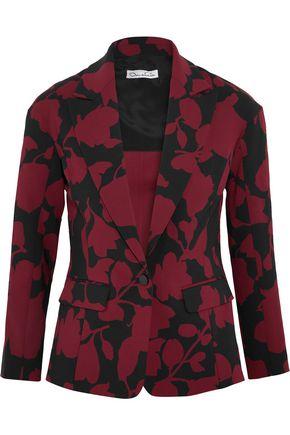 OSCAR DE LA RENTA Printed wool-blend crepe blazer