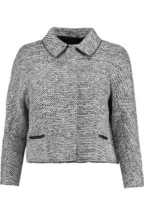 OSCAR DE LA RENTA Wool-blend bouclé-tweed jacket