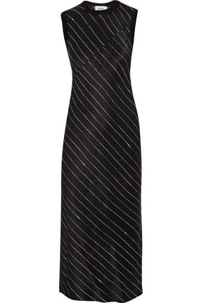 DKNY Striped satin dress
