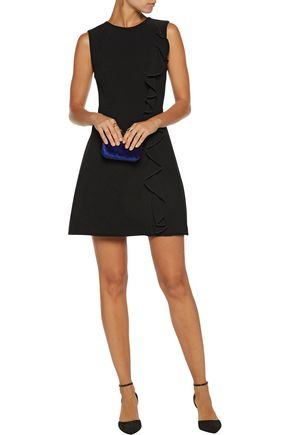 RACHEL ZOE Krause ruffled cady mini dress