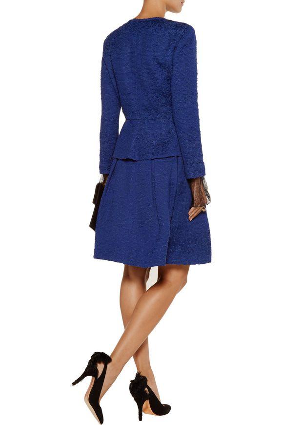 Cotton-blend bouclé peplum jacket | OSCAR DE LA RENTA | Sale up to 70% off  | THE OUTNET