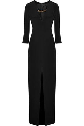 CUSHNIE ET OCHS Chain-embellished silk-cady gown