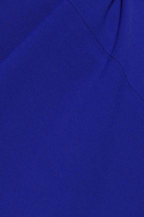 BADGLEY MISCHKA Off-the-shoulder stretch-ponte dress
