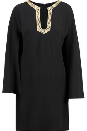VANESSA SEWARD Embroidered crepe cape dress