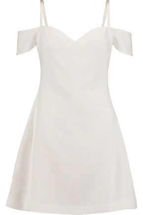 CINQ À SEPT Larkin cold-shoulder crepe mini dress