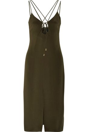 CUSHNIE ET OCHS Cutout silk-crepe midi dress