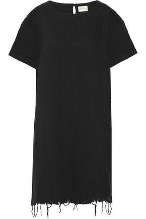 SIMON MILLER Cody frayed cotton mini dress