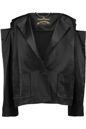 VIVIENNE WESTWOOD ANGLOMANIA Cold-shoulder satin jacket