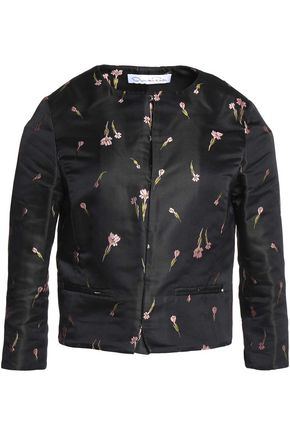 OSCAR DE LA RENTA Embroidered satin jacket