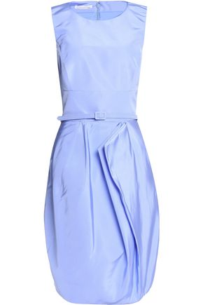 OSCAR DE LA RENTA Draped silk dress