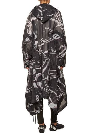 Y-3 + adidas Originals printed mesh hooded poncho