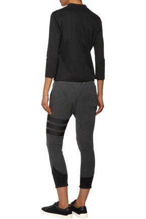 Y-3 + adidas Originals Android appliquéd jersey top