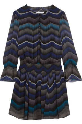 DIANE VON FURSTENBERG Kelley printed silk-chiffon mini dress