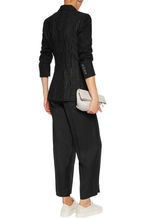 DKNY Pinstriped wool-blend blazer