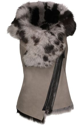 KARL DONOGHUE Toscana leather-trimmed shearling vest