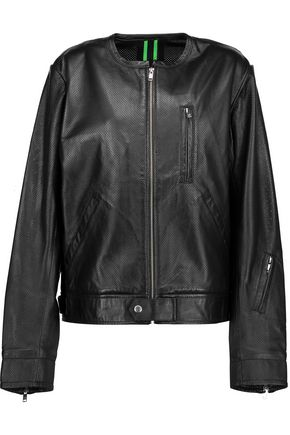 Y-3 + adidas Originals perforated leather jacket
