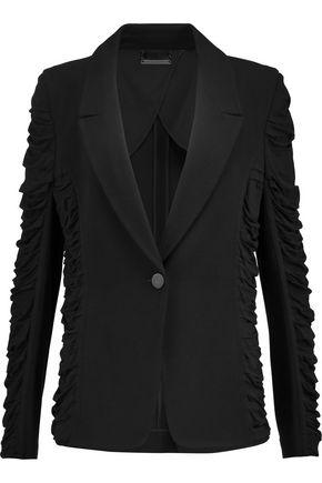 DIANE VON FURSTENBERG Marly jersey-paneled crepe blazer