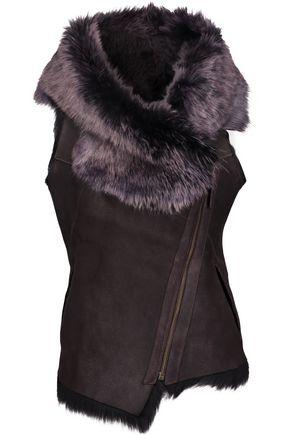 KARL DONOGHUE Toscana shearling biker vest