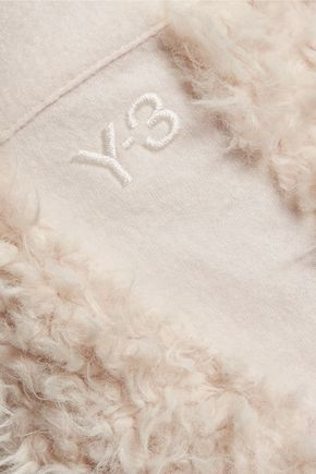 Y-3 + adidas Originals wool-trimmed faux shearling shorts