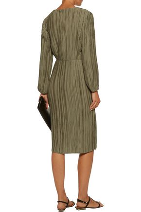 ZIMMERMANN Karmic tasseled plissé-crepe midi dress