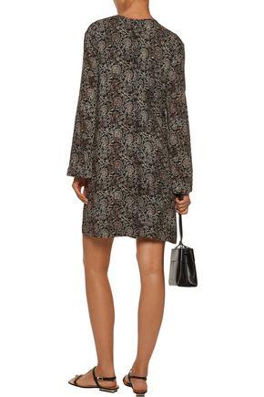 ZIMMERMANN Lavish printed crepe mini dress