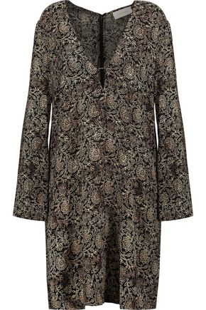 ZIMMERMANN Lavish printed crepe mini dress