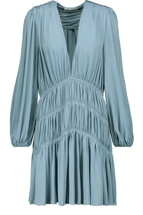 ZIMMERMANN Adorn tiered gathered stretch-jersey mini dress