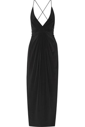 ZIMMERMANN Wrap-effect silk crepe de chine maxi dress