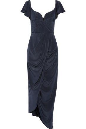 ZIMMERMANN Draped  silk crepe de chine maxi dress