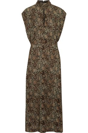ZIMMERMANN Lavish cutout printed crepe midi dress