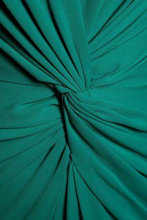 BADGLEY MISCHKA Gathered cady gown