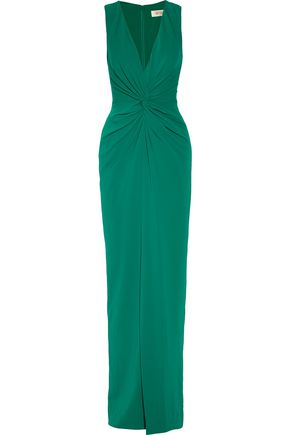 BADGLEY MISCHKA Gathered cady gown