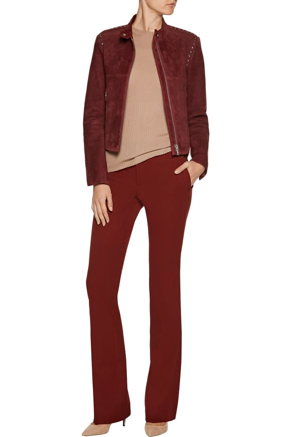 Bavewick SM Wilmore studded suede jacket | THEORY | Sale up to 70% off |  THE OUTNET