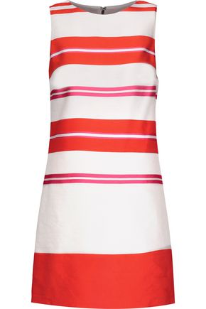 ALICE + OLIVIA Clyde striped linen-blend satin mini dress