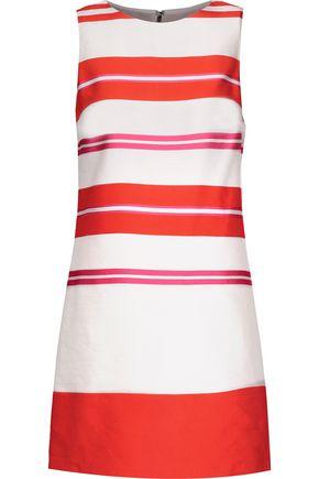 ALICE + OLIVIA Clyde striped linen-blend satin mini dress
