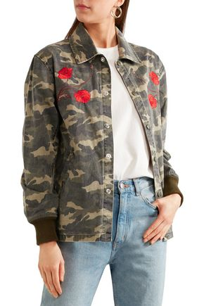 OPENING CEREMONY Tigers Coach appliquéd printed cotton-canvas jacket