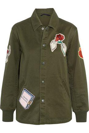 OPENING CEREMONY Gestures Coach appliquéd cotton-canvas jacket