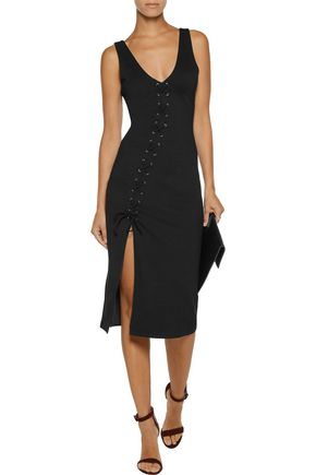 W118 by WALTER BAKER Rose lace-up stretch-jersey dress