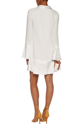 CINQ À SEPT Rya satin-trimmed crepe mini dress